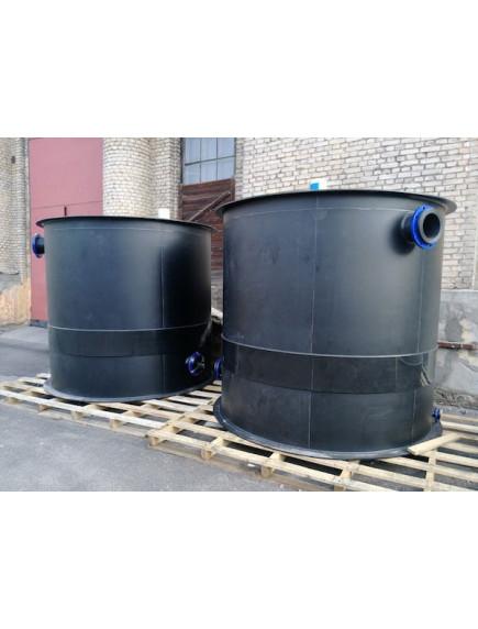 Цилиндрический бак 15 000 литров из ПП и ПНД