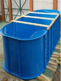 Пластиковый бассейн 4,0*2,5*1,0м т-8 мм