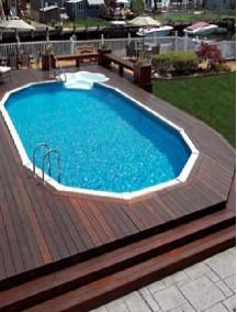 Пластиковый бассейн 4,0*2,5*1,5м (д*ш*г) т-8 мм.