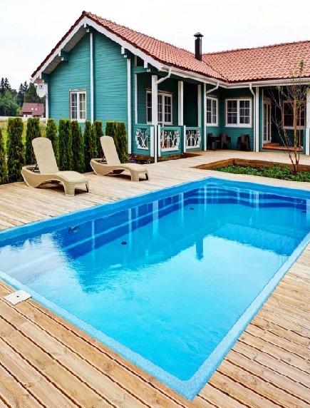 Пластиковый бассейн 4,0*2,0*1,5м (д*ш*г) т-8 мм.