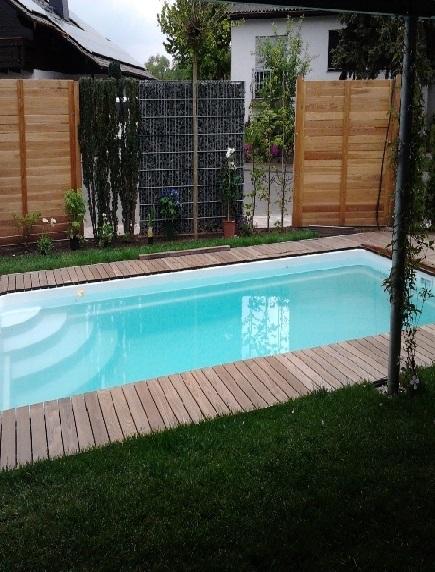 Пластиковый бассейн 3,0*2,0*1,5м (д*ш*г) т-8 мм.