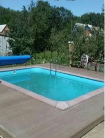 Пластиковый бассейн 4,5*2,5*1,5м (д*ш*г) т-8 мм.