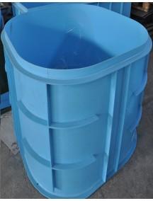 Круглая купель для бани и дома 1,1x1,5 м. толщ 6 мм
