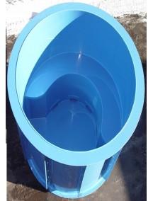 Круглая купель для бани и дома 2,0x1,5 м. толщ 6 мм