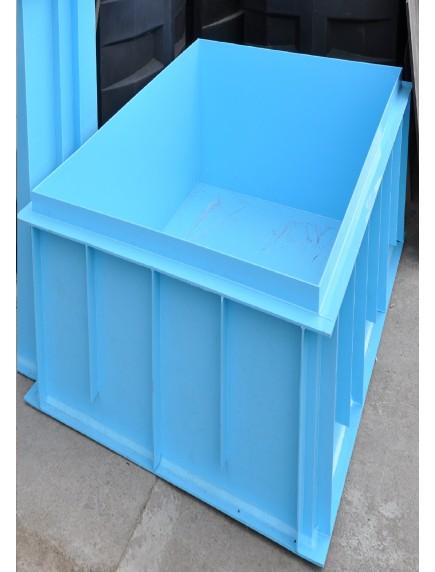Прямоугольная купель для бани и дома 1,1*1,3*1,5 м. 8 мм толщ