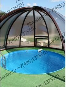 Круглая купель для бани и дома 2,0x1,5 м. толщ 8 мм