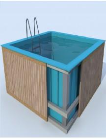Прямоугольная купель для бани и дома 1,1*1,2*1,5 м. 8 мм толщ