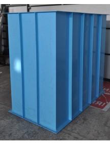 Прямоугольная купель для бани и дома 1,1*1,2*1,5 м. 6 мм толщ