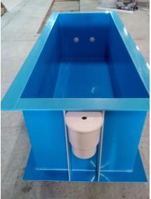 Квадратная купель для бани и дома 1,0*1,0*1,5 м. т-6 мм