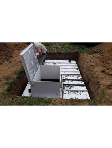 "Погреб для дачи 2,3*2,3*2 из ПНД- 12 мм ""Стандарт"""
