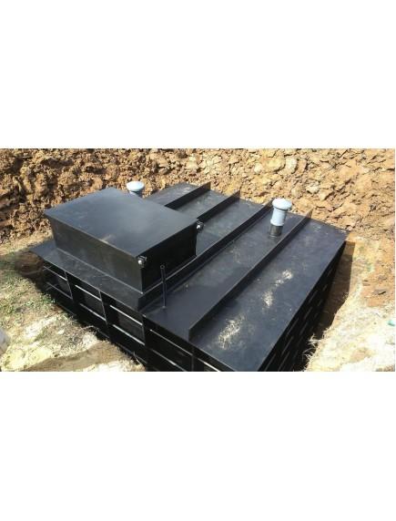 "Погреб для дачи 2,4*1,6*2 из ПНД- 12 мм ""Стандарт"""